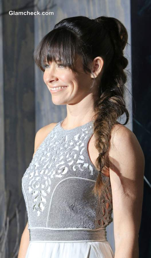 High Ponytail Braid Evangeline Lilly
