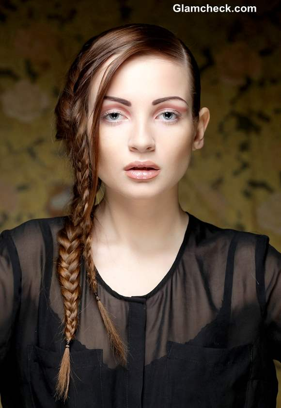 How to Make Side-swept Double Fishtail Braid Hairstyle