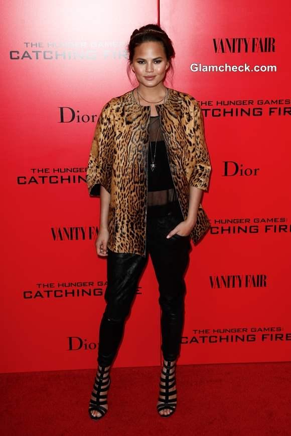 Leopard Print Jacket Chrissy Teigen