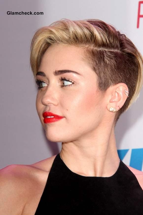 Miley Cyrus Pixie Cropped Hair at 2013 KIIS FM Jingle Ball