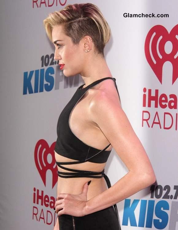 Miley Cyrus in Black Crop Top