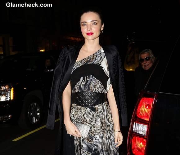 Miranda Kerr in Just Cavalli Maxi Dress