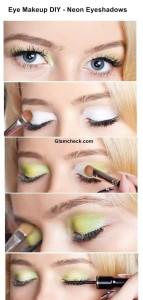 Eye Makeup DIY – Playing with Neon Eyeshadows