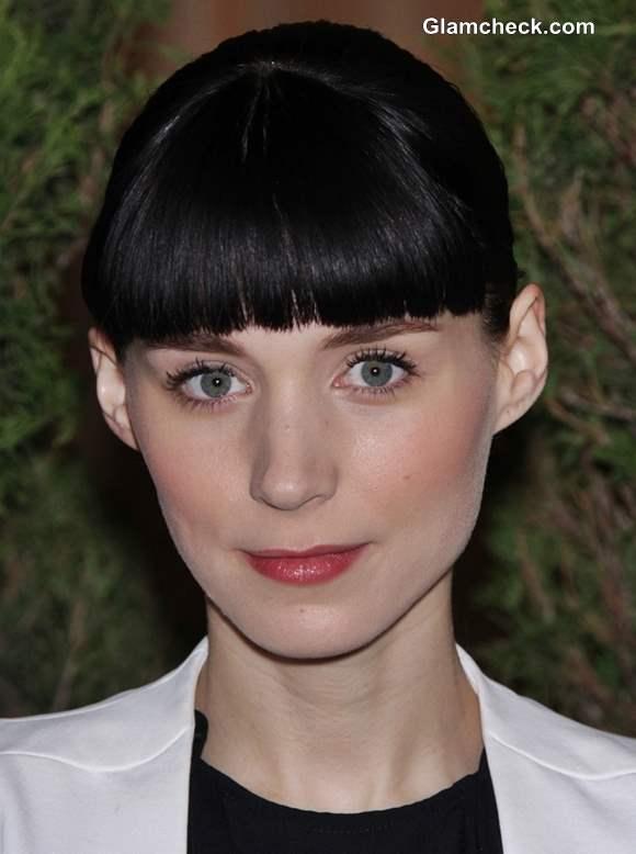Rooney Mara Hairstyle Blunt Bangs