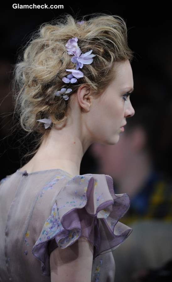 SS 2014 Flower Hairstyle and Accessory Trend