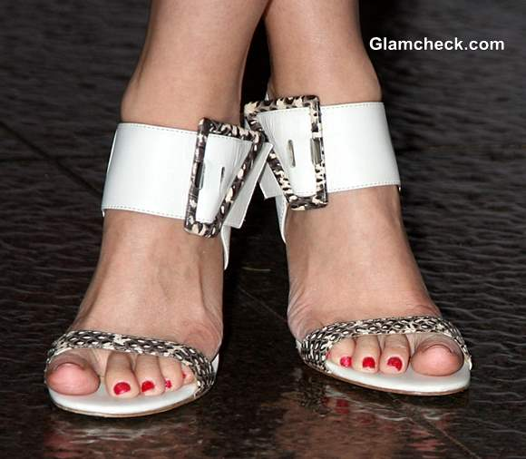 Ankle Strap Heels white