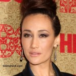 Effortless Top Knot Hairstyle 2014 Maggie Q