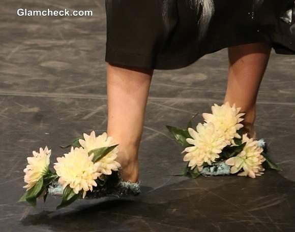 Floral footwear DIY Marktina Banozic Fashion Wardrobe show 2013