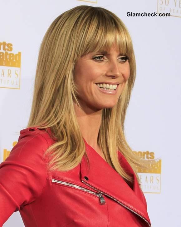 Heidi Klum 2014 Blunt Bangs