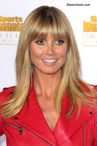 Heidi Klum Sports Blunt Bangs at Sports Illustrated Event