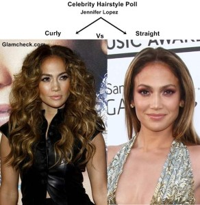 Jennifer Lopez Hairstyle Poll – Curly vs. Straight