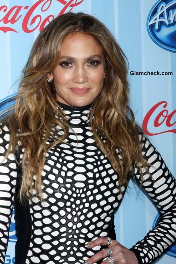 Jennifer Lopez in Tom Ford Mini Dress at American Idol Season 13 Screening
