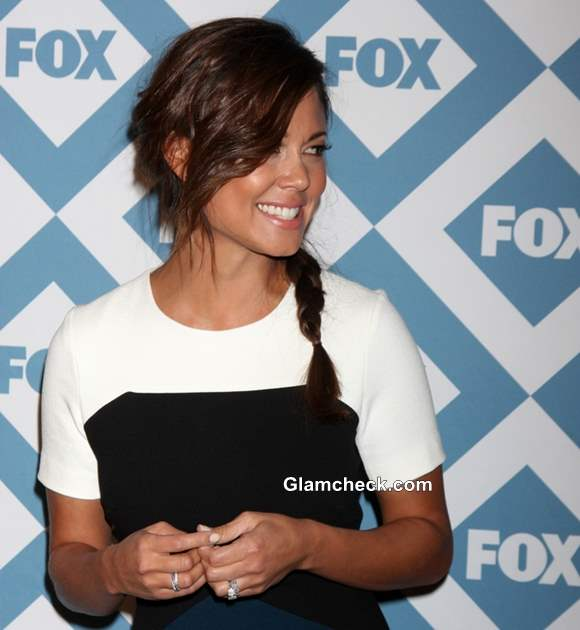 Vanessa Lachey Sports a Messy Side Braid At the FOX TCA Winter 2014 Party