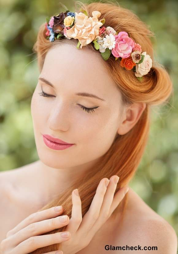Flower Hairstyle for Valentines Day