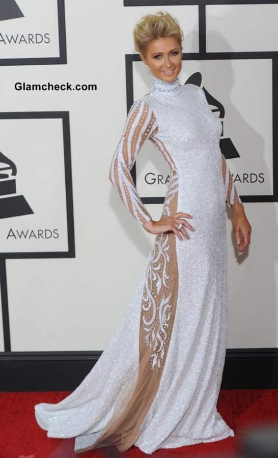 Paris Hilton in Haus of Milani at 2014 Grammy Awards