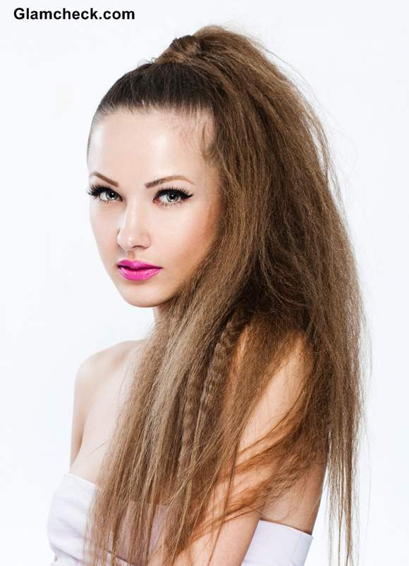Textured High Ponytail Hairstyle