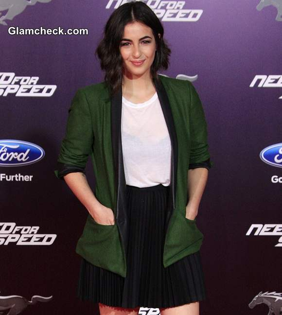 Alanna Masterson at the premiere of DreamWorks Pictures Need for Speed