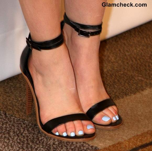 Ankle Strap Heels in Black Lucy Hale