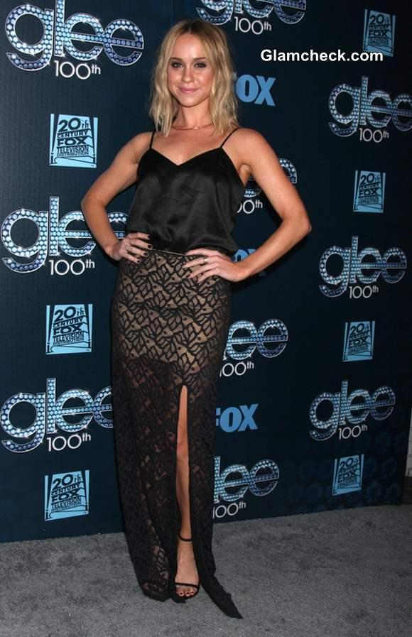Becca Tobin 2014 in see through Dress