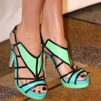 Color Blocked Strappy Heels