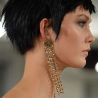Curtain Style Earrings seen at Oscar De La Renta Show