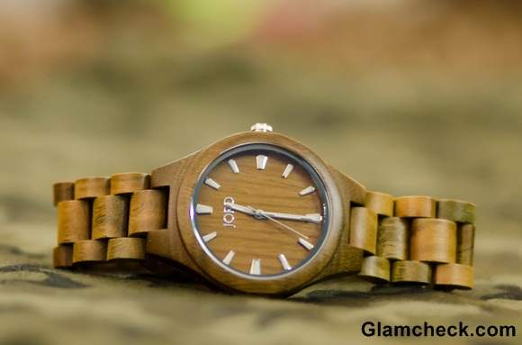 Fieldcrest Series Natural Green Wood Watches by Jord