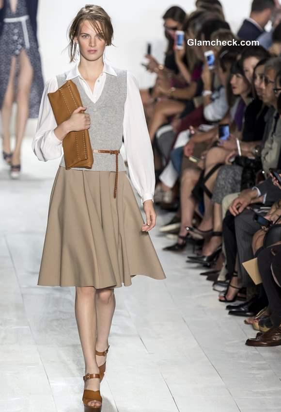 Khaki Skirt for Formal look Michael Kors ss 2014
