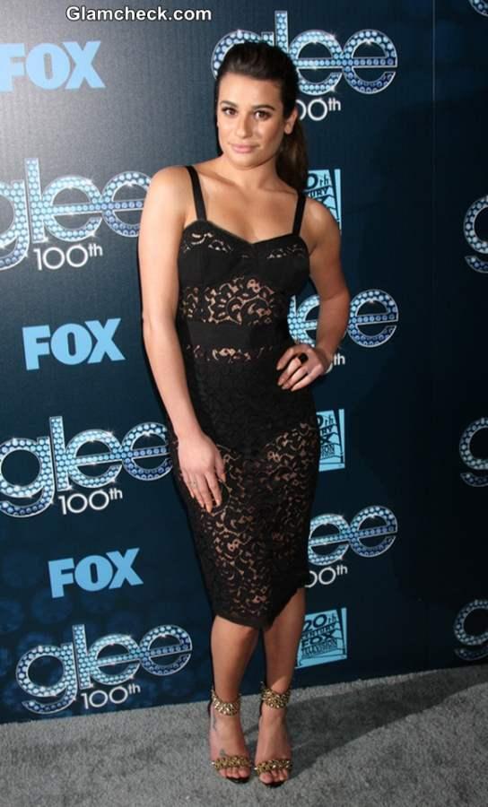 Lea Michele 2014 see through Dress