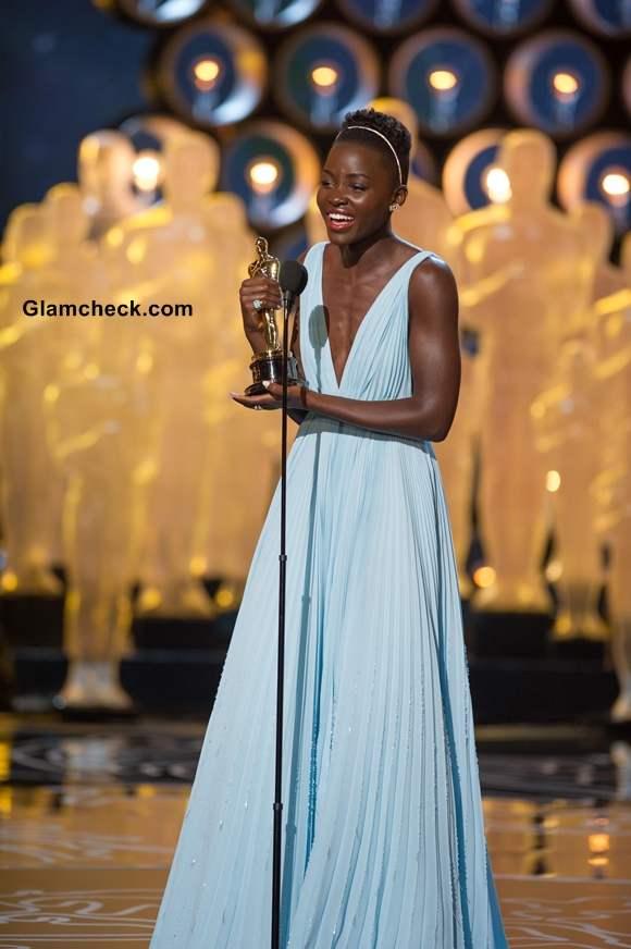 Lupita Nyong in Prada at Oscars 2014