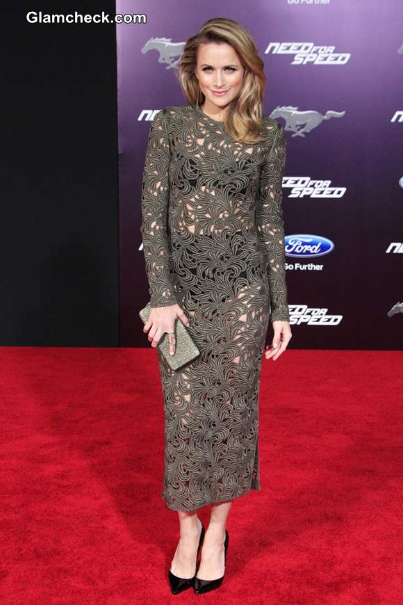 Shantel VanSanten 2014 in see through Dress