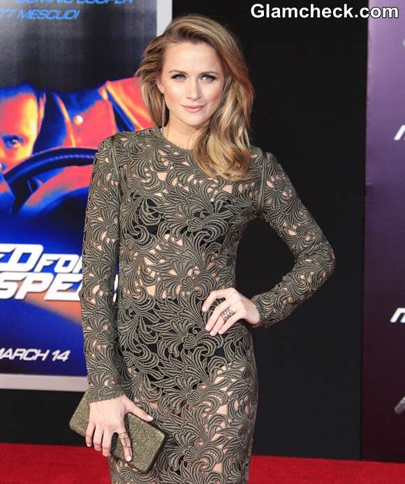 Shantel Vansantens Peek-a-boo Style at Need For Speed Premiere