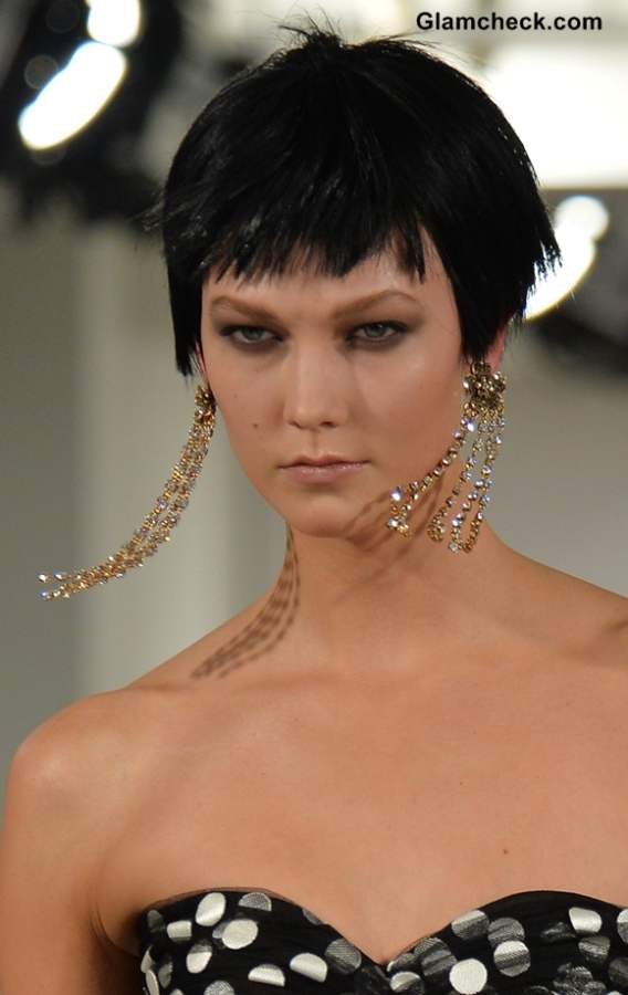 Style Pick - Curtain Style Earrings seen at Oscar De La Renta Show