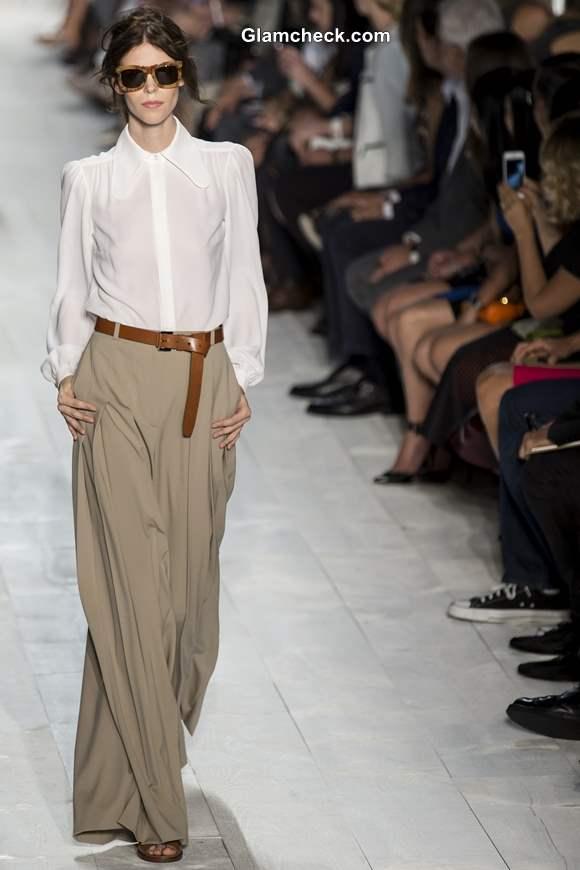 Wide-Legged Khaki Pants by Michael Kors Spring Summer 2014