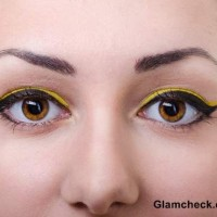 Yellow Eye Makeup for Spring