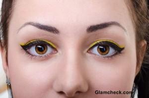 Yellow Eye Makeup for Spring