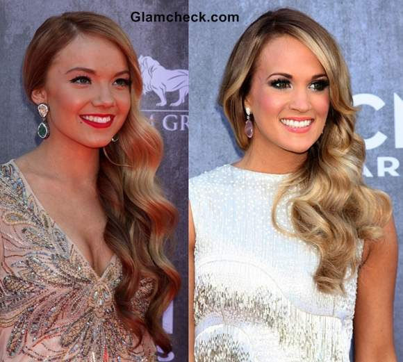 Carrie Underwood and Danielle Bradburry Side Curls