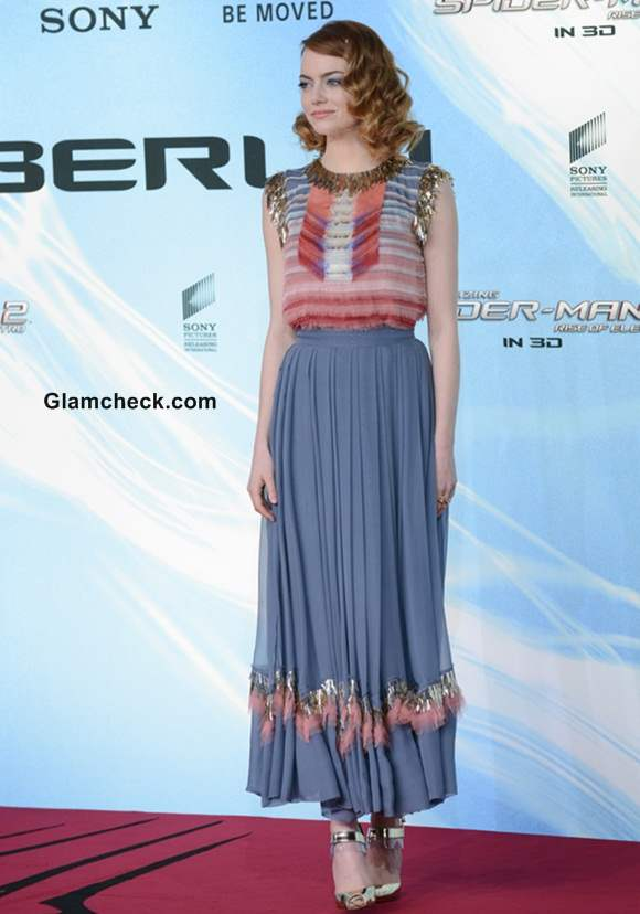 Emma Stone in Chanel at The Amazing Spider-Man 2 Berlin Premiere
