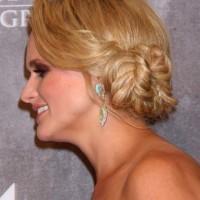 Miranda Lambert Wows with Braided Side Chignon