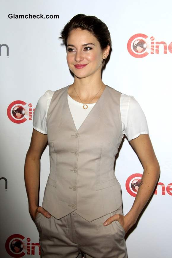 Shailene Woodley in Dolce and Gabbana Androgynous Look