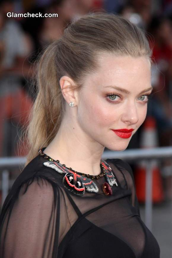 Sheer Black Dress Amanda Seyfried