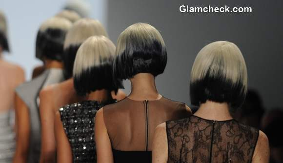Asymmetric bob with blunt bangs Hairstyle Trend s-s 2014 Carmen Marc
