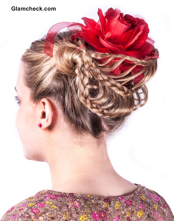 Braided hairstyles with flowers