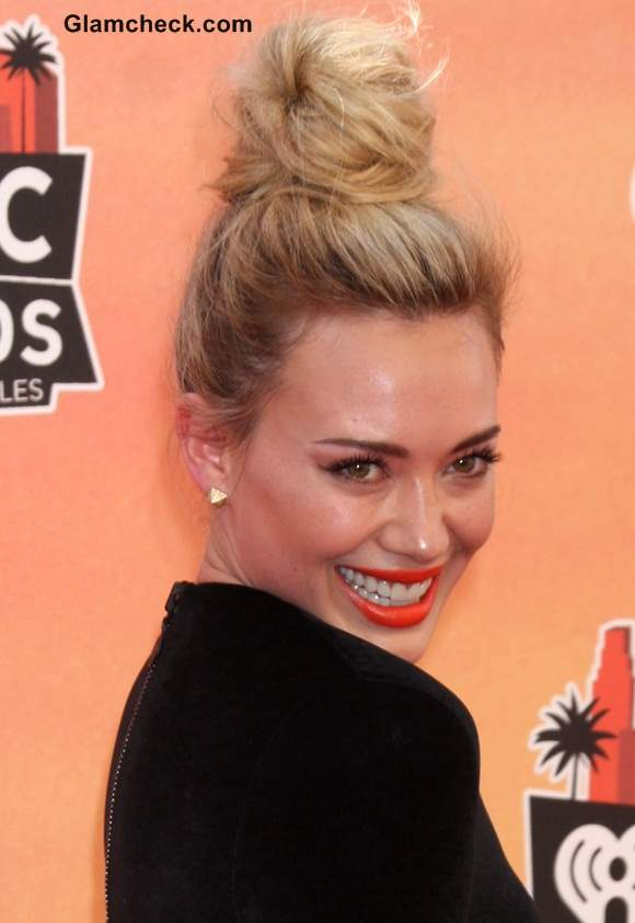 Hilary Duff Top Knot at 1st iHeartRadio Music Awards