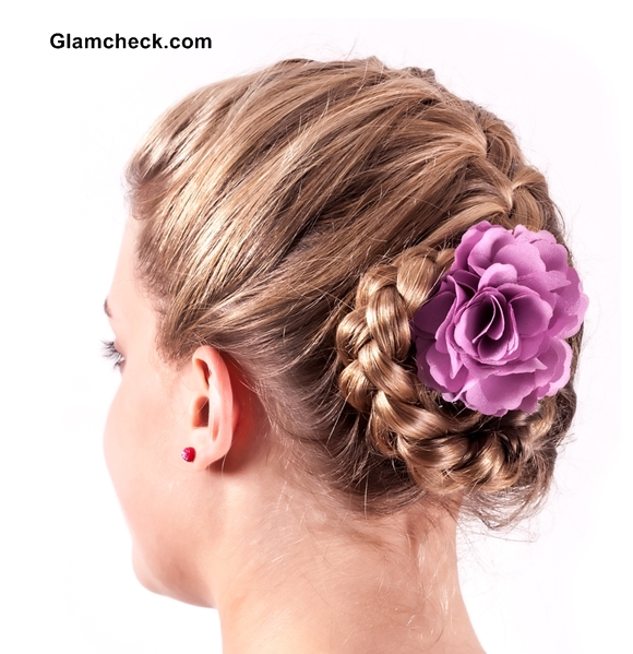 Intricate Braided hairstyles with flowers