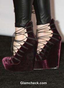 John Galliano Velvet Platform Heels – Lindsey Stirling