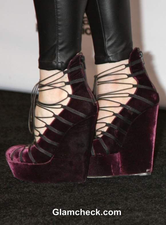 John Galliano Velvet Platform Heels