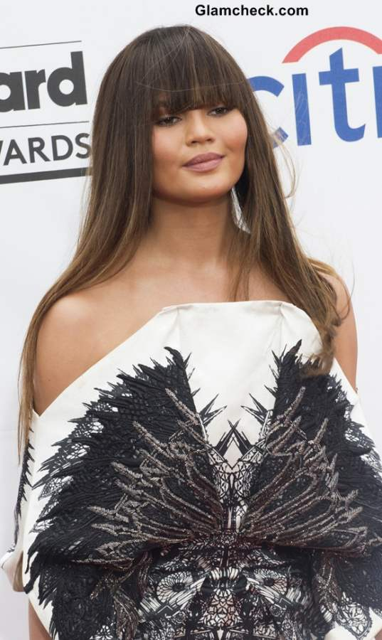 Model Christine Teigen Hairstyle at 2014 Billboard Music Awards