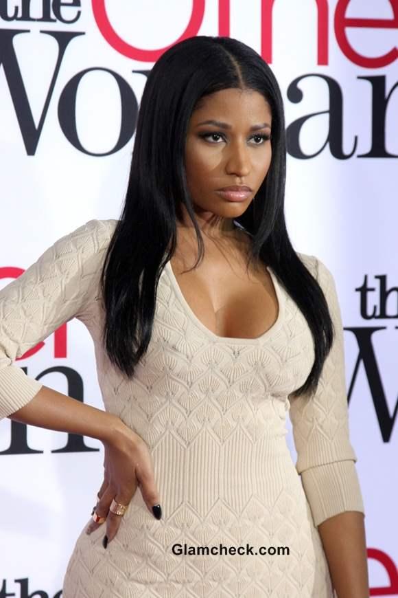 Nicki Minaj in Alexander McQueen at The Other Woman Premiere