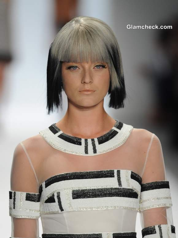 Techno Tribal Hair Color Trend S-S 2014  Carmen Marc Valvo