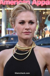 Statement Gold Necklace – Anna Paquin